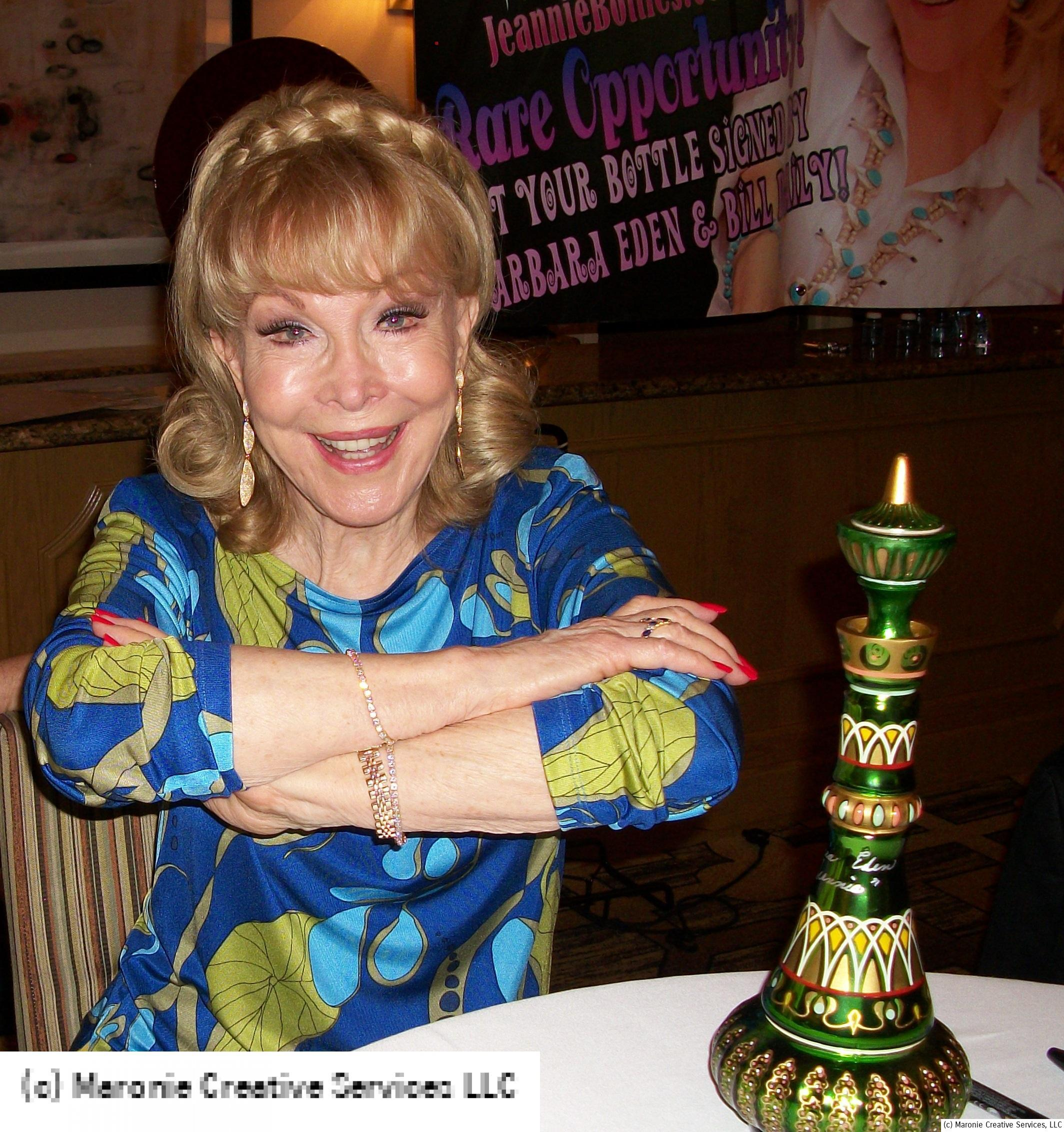 Actress Barbara Eden, photo taken at the Hollywood Show Chicago, September 7, 2013. Obviously, she has worked some Jeannie magic--she looks like she hasn't aged a day!