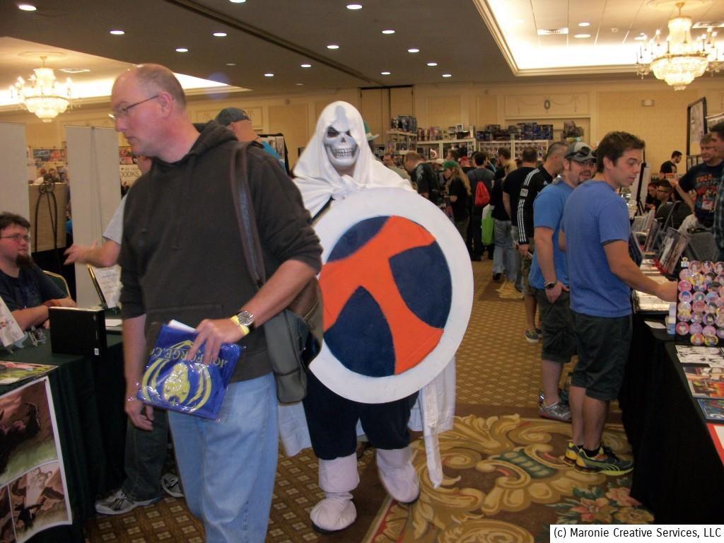 Fans and costumed characters alike roamed the aisles of the convention floor.