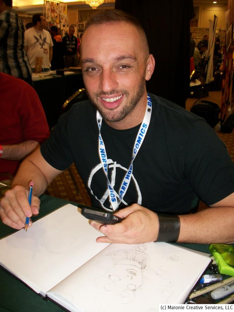 Penciller Phil Jimenez was a huge hit at the show. He had a constant stream of fans waiting to meet him.
