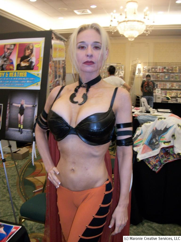 What's a comic or sf convention without a half-naked girl? Here's a representative for Project Comicon 2013.