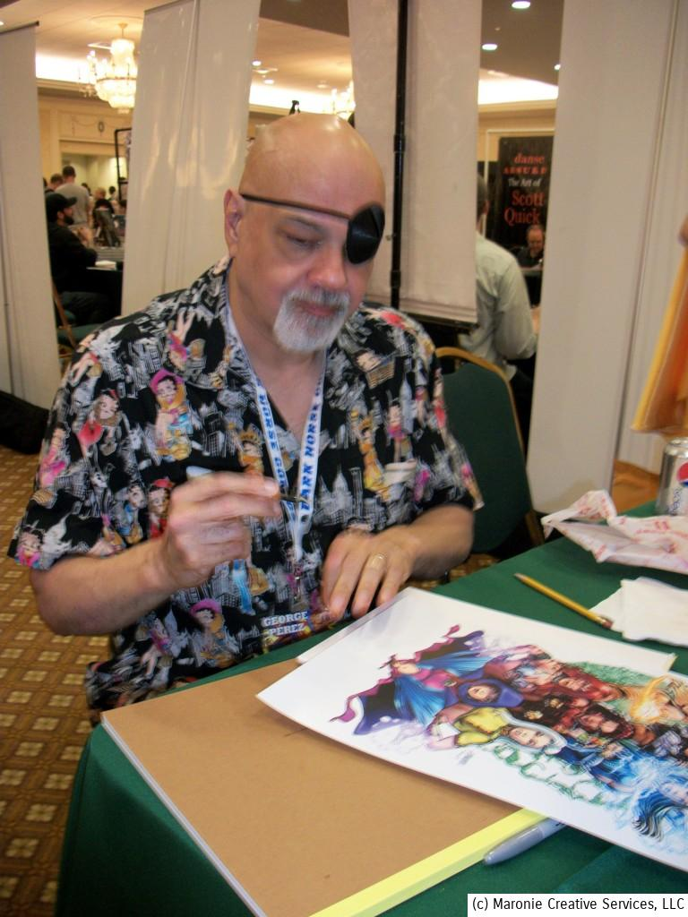 Artist George Perez was a huge hit. Eager fans lined up for autographs and sketches.