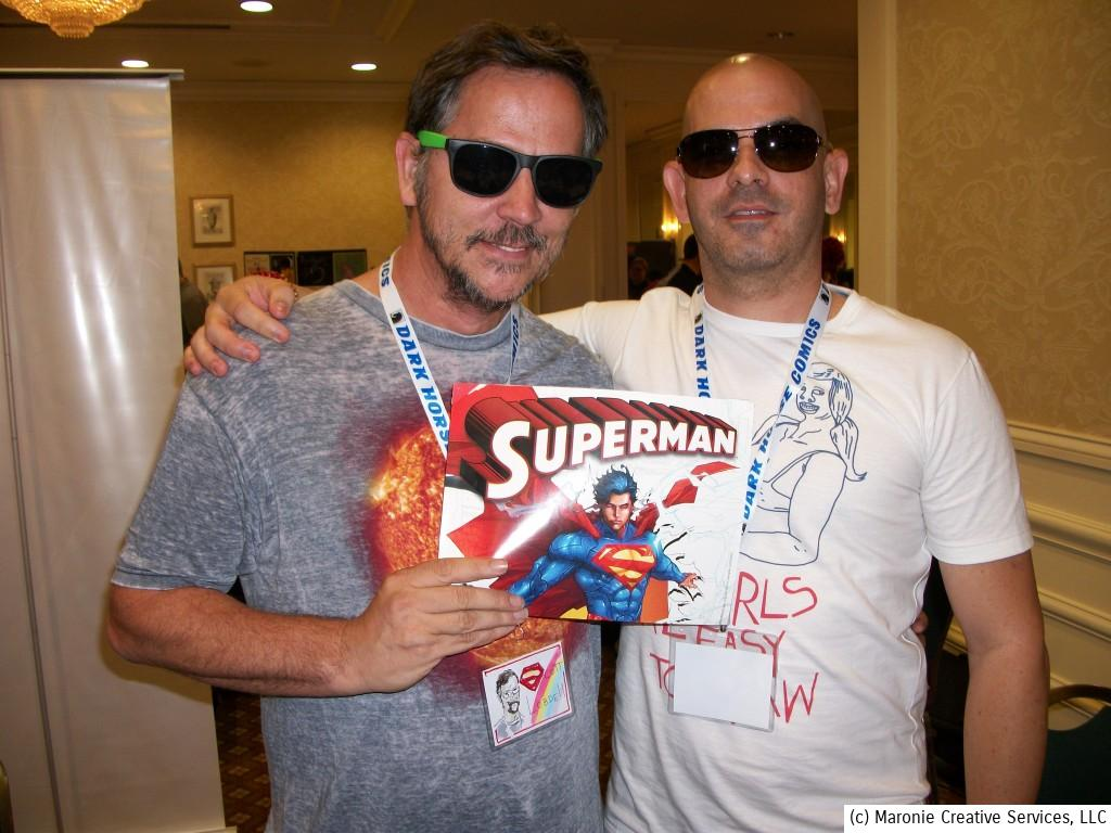 Who are the men behind those Foster Grants? Scott Lobdell and Kenneth Rocafort take a moment to vamp for the camera.