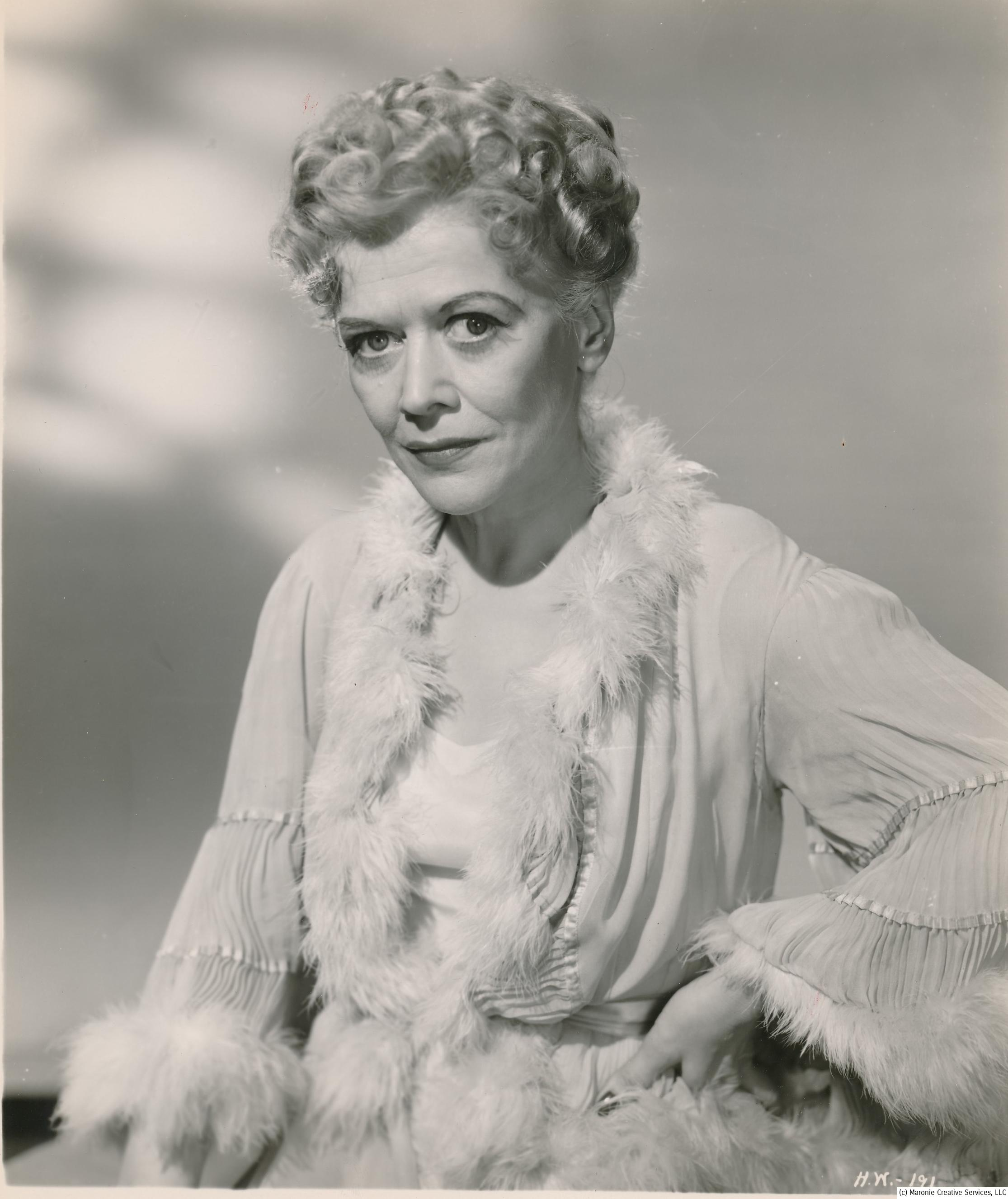 Gladys George always played hard-hearted dames in her screen roles. She's noted for her portrayal of Iva Archer in The Maltese Falcon; she was 'grieving' widow of Bogie's murdered partner who had the hots for Sam Spade. Other tough-gal performances were featured in The Roaring Twenties, Flamingo Road and Detective Story.