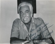 Actor Cesar Romero, photo taken in St. Louis, Missouri in the early 1970s. Exclusive photo by Sam Maronie.