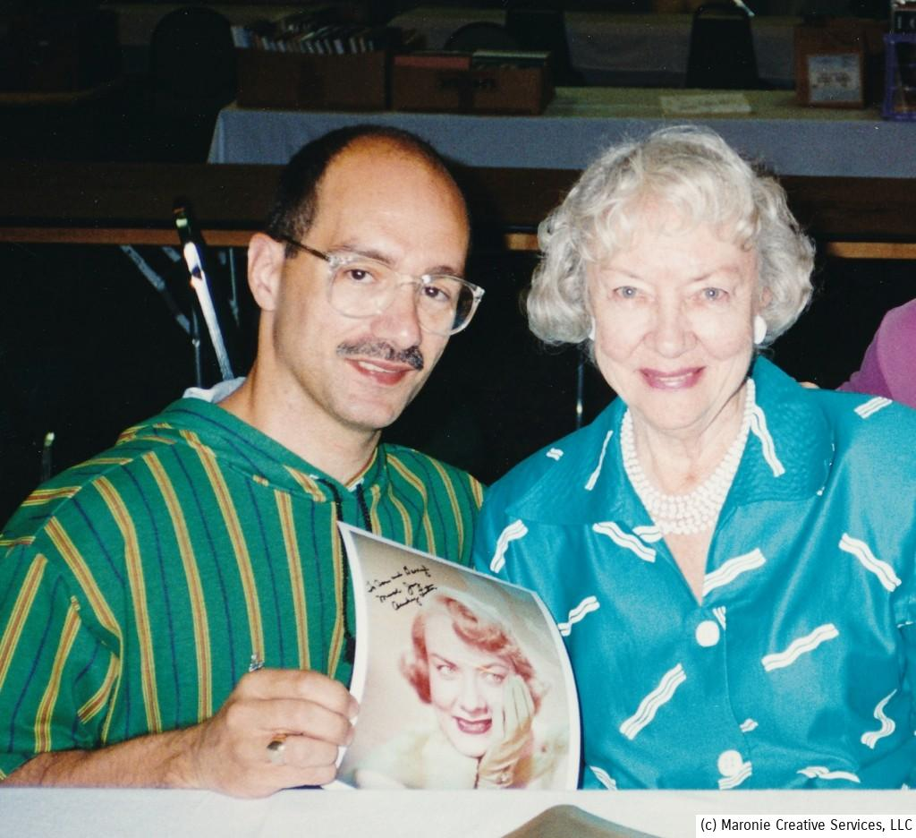 Audrey Totter poses with Blogmeister Sam during the 1995 Memphis Film Festival. How could this sweet lady ever portray the hard-boiled 'tomatoes' from so many classic films? h