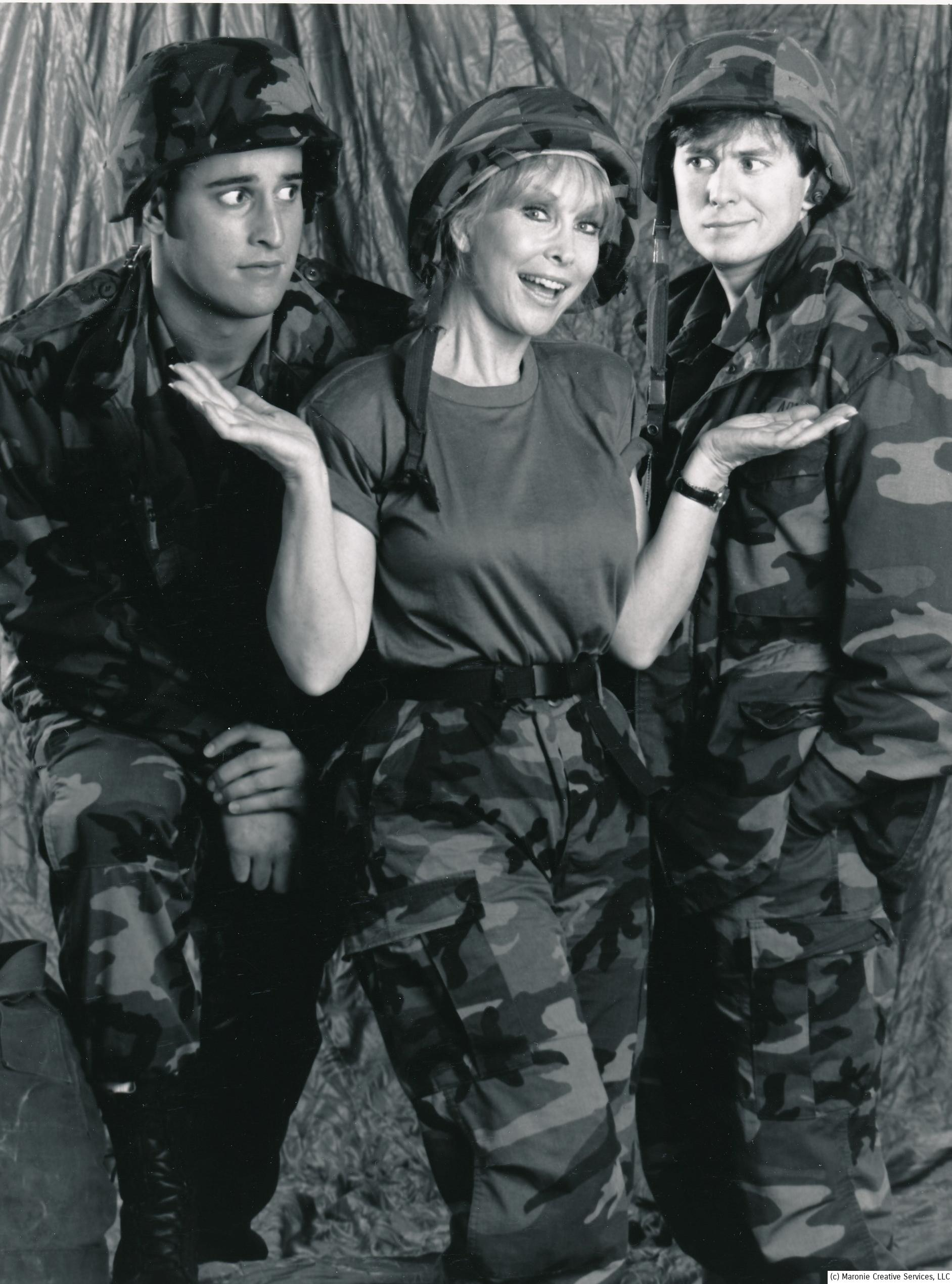 After Jeannie folded, Eden became the Queen of the made-for-TV movie. Your Mother Wears Army Boots was yet another of the assembly-line films she made for the tube. This one is notable as it co-starred her real-life son, Matthew Ansara (l). In 2001 Ansara was found dead in his parked car, the victim of an accidental heroin overdose. (c) NBC a
