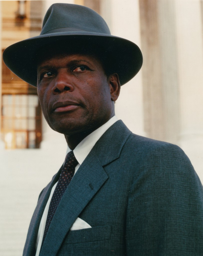 This great color portrait of Sidney Poitier is from one of his rare television appearances in the film, Separate but Equal.  In this 1991 TV film, Poitier portrayed Judge Thurgood Marshall. (c) ABC