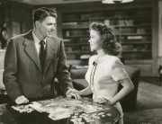 Shirley faces down her future political mentor, Ronald Reagan, in a tense scene from That Hagen Girl. Even audiences back then hooted at the melodramatic tale of 'illegitimacy'. (c) Warner Brothers