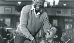 Submitted for your approval is a trio of great photos of Sidney Poitier the Director working on the set of 1980's Stir Crazy. I didn't care much for the movie as a whole, but no question that Sidney brought the best out of the Richard Pryor/Gene Wilder teaming.  Here Poitier and Pryor share a life during rehearsal. (c) Columbia