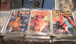Vintage pulp magazines of all varieties were available in the Dealer's Room at Pulpfest 2013.