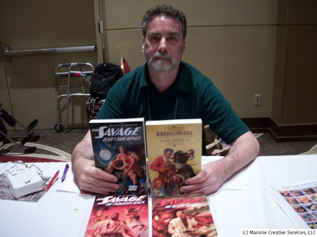 Will Murray, author and preeminent pulp scholar, displays some of his latest work.