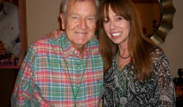 I Dream of Jeannie co-star, Bill Daily, poses with MacKenzie Phillips at the Chicago Hollywood Show.