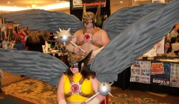 This Hawkman/Hawkgirl team was one of the most impressive sights of the convention. Their wings flapped and medallions lit up, to the delight of attendees.