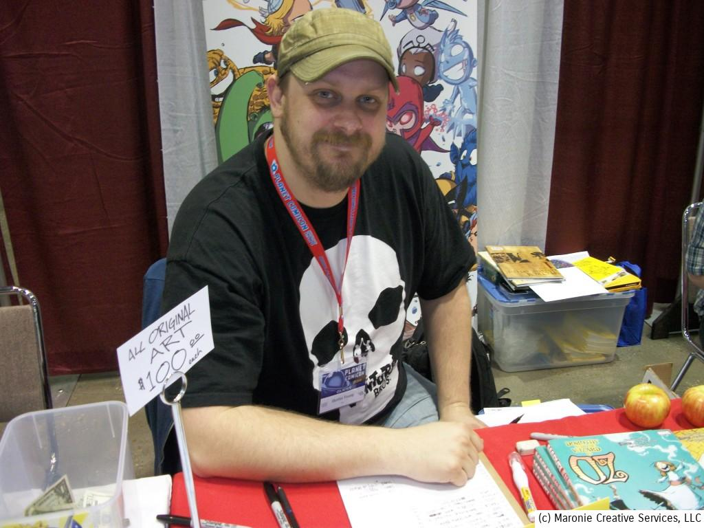 Kansas City boasts a colony of comic-book artists and writers. Here's Skottie Young, a local boy who's a double-threat writer and artist. He has authored a number of comics based on further adventures of the Wizard of Oz characters.