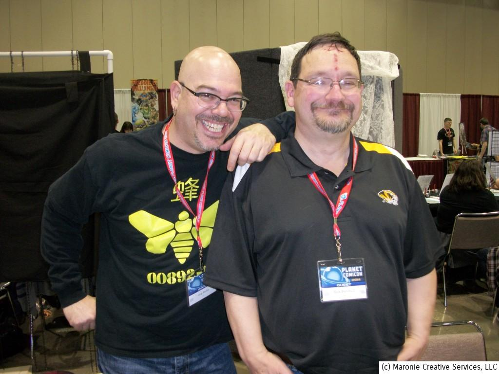 Novelist Greg Ruck (l) and Eisner Award-winning artist Rick Burchett were on hand to meet and greet their many fans. The due celebtrated the release of their Kickstarter-funded 'Lady Sabre' collection.