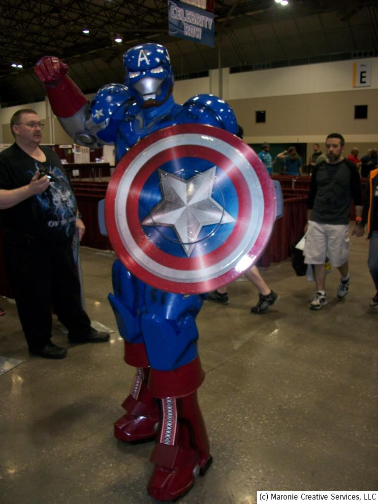 This 'RoboCap' was one of the more impressive costumes at Planet Comicon. There were many 'Captain Americas' at the convention, in anticipation of the upcoming film.