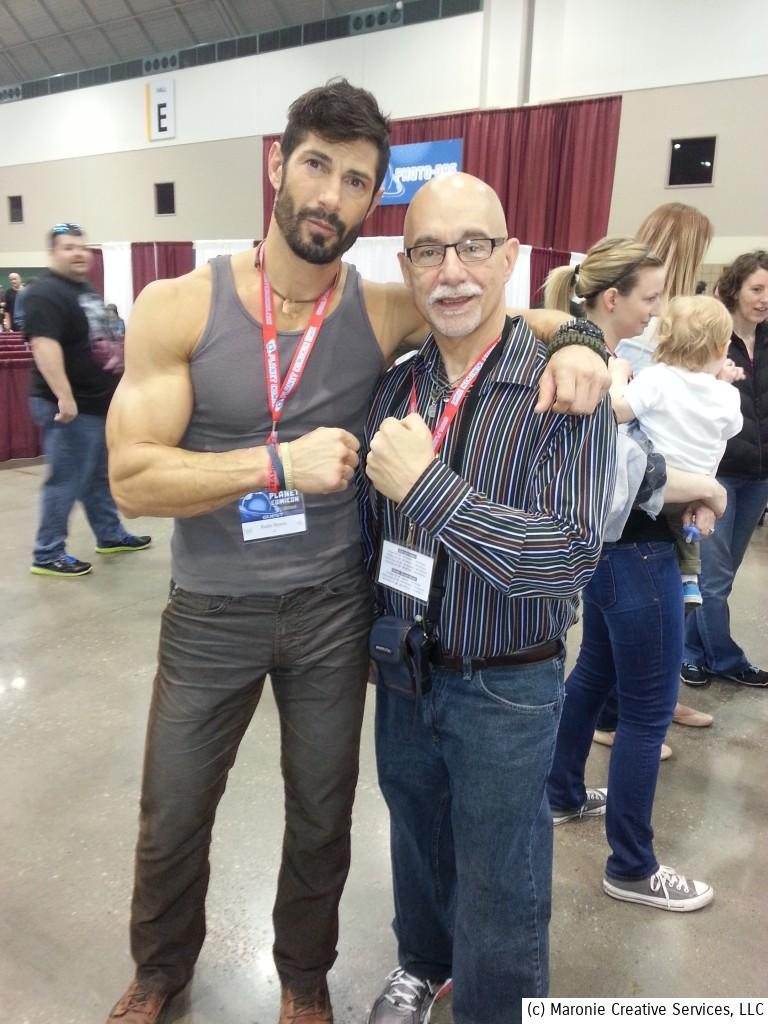 Blogmeister Sam promised not to hurt National Geo's 'Ultimate Survivor: Alaska' participant Rudy Reyes if he posed for a picture. You can see how relieved Reyes looks that he escaped physical harm!