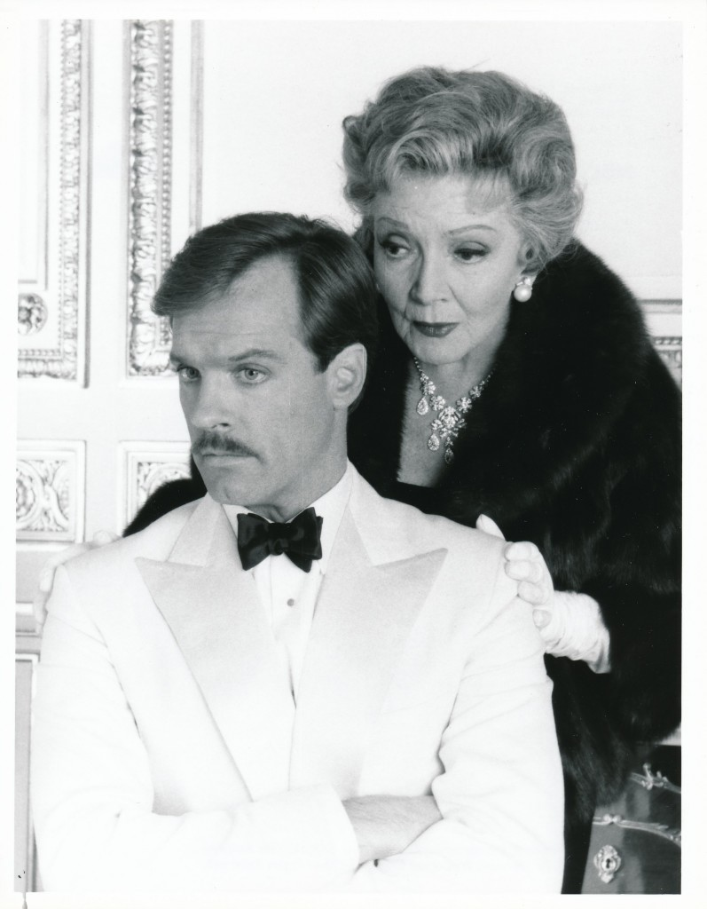 The great Claudette Colbert took a stab at the TV movie game in 1987's The Two Mrs. Grenvilles, based on author Dominic Dunne's best-selling novel. Colbert co-starred with another icon, Ann Margaret, in the four-hour mini-series. Here she is with fellow-player Stephen Collins. c) NBC