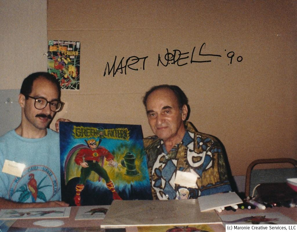 The day I first met the Nodells in 1990. Marty and I pose with one of his coveted cover recreations. This took place at one of the old pre-Wizard Chicago Comicons. They always put on a tremendous show.