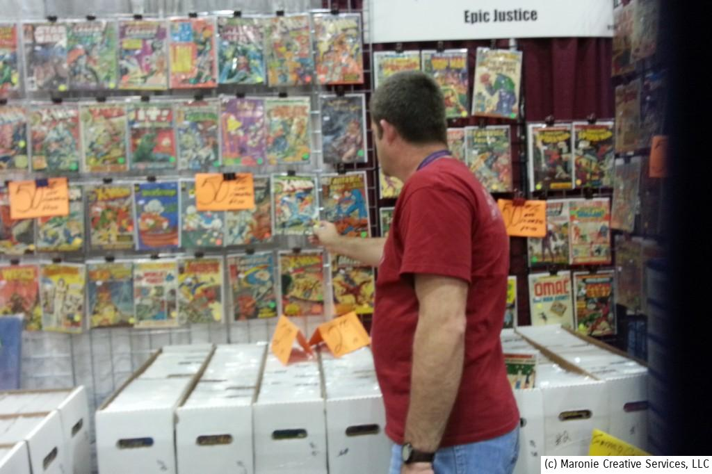 If you were looking for old funny-books, the Dealer's area was the place to be. There was a great variety, and most vendors seemed anxious to negotiate.