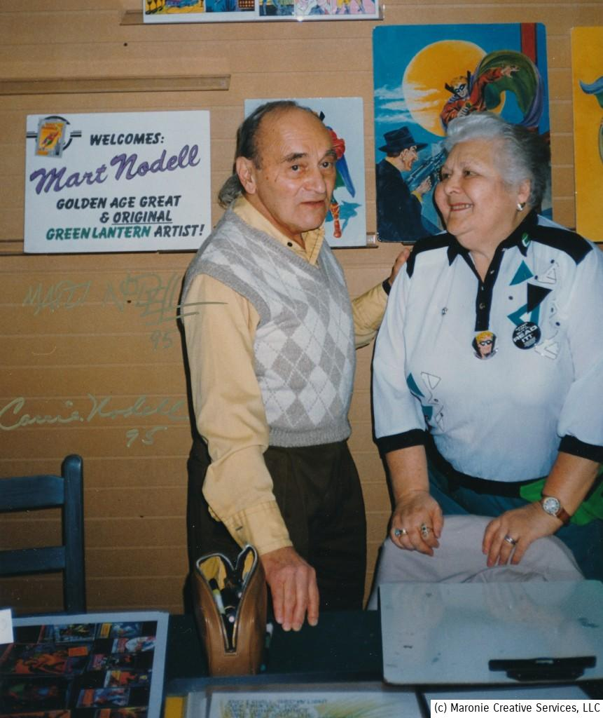 Marty and Carrie Nodell at a St. Louis comic-book store appearance, c. 1995.