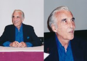Here are two exclusive color photos of the great Christopher Lee. These two pix were taken at Monster Bash 1999 held in Crystal City, Virginia. Lee's in his early 90s now and we hope he'll be with us for many more years. Exclusive photos by Sam Maronie