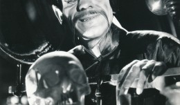 BORIS KARLOFF was not the first Fu--actually that was Swedish actor Warner Oland--but he is the first Englishman and the one most remembered. This 1932 MGM film, The Mask of Fu Manchu, came right after Frankenstein. The studio hoped to spark a horror cycle of their own, but the dismal results of this movie put an end to those plans. (c) MGM