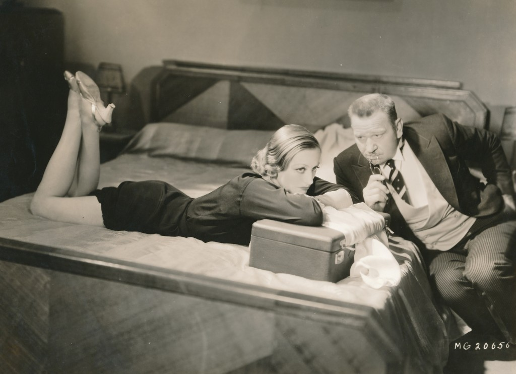 Another rare scene from the 1932 Grand Hotel. Here Joan Crawford and Wally Beery (as Preysing) share a dramatic scene. Dig that beautiful Art Deco bed! It's hard to believe this film is over 80 years old. c) MGM