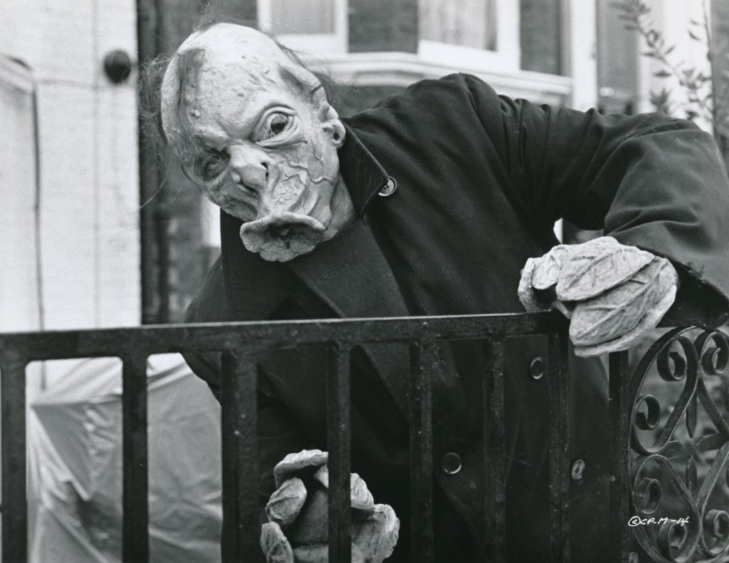 A plant-creature from The Mutations--check out those leafy fingers! Donald Pleasence Tom Baker and Michael Dunn were the actors involved in this wonky 1970s production. Dig those crazy lips---the creature is a one-man hickey machine! (c) Columbia Pictures