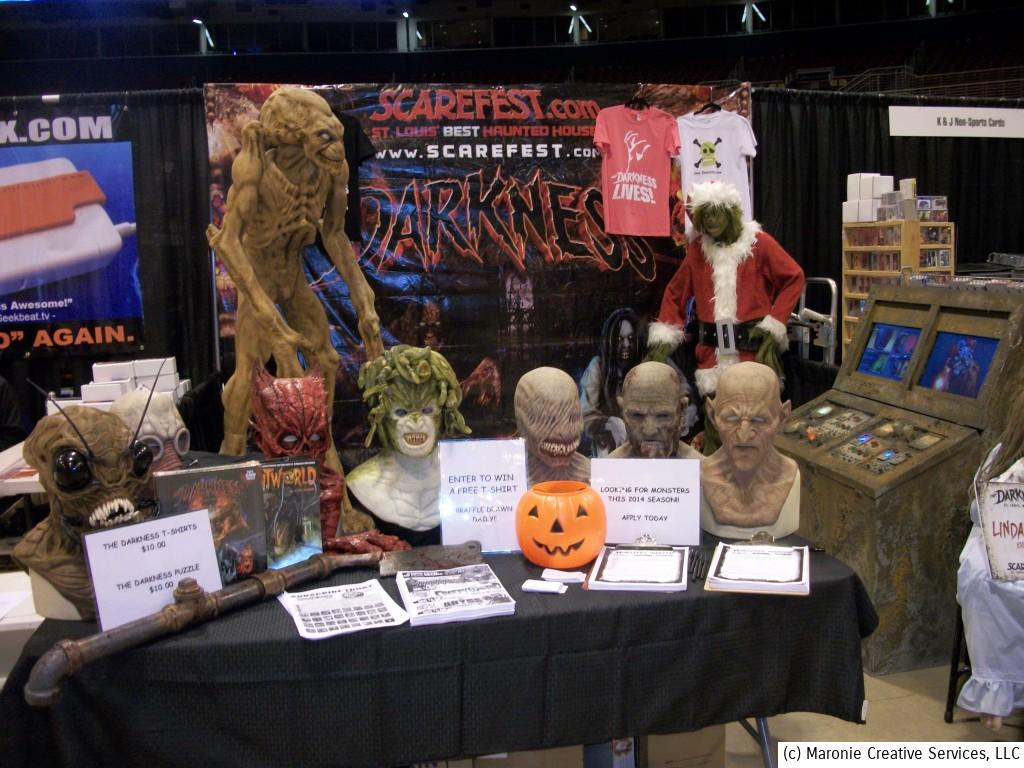 It's never too early---or too late--to be plugging Halloween! A professional 'haunted house' company was promoting their holday extravaganzas.