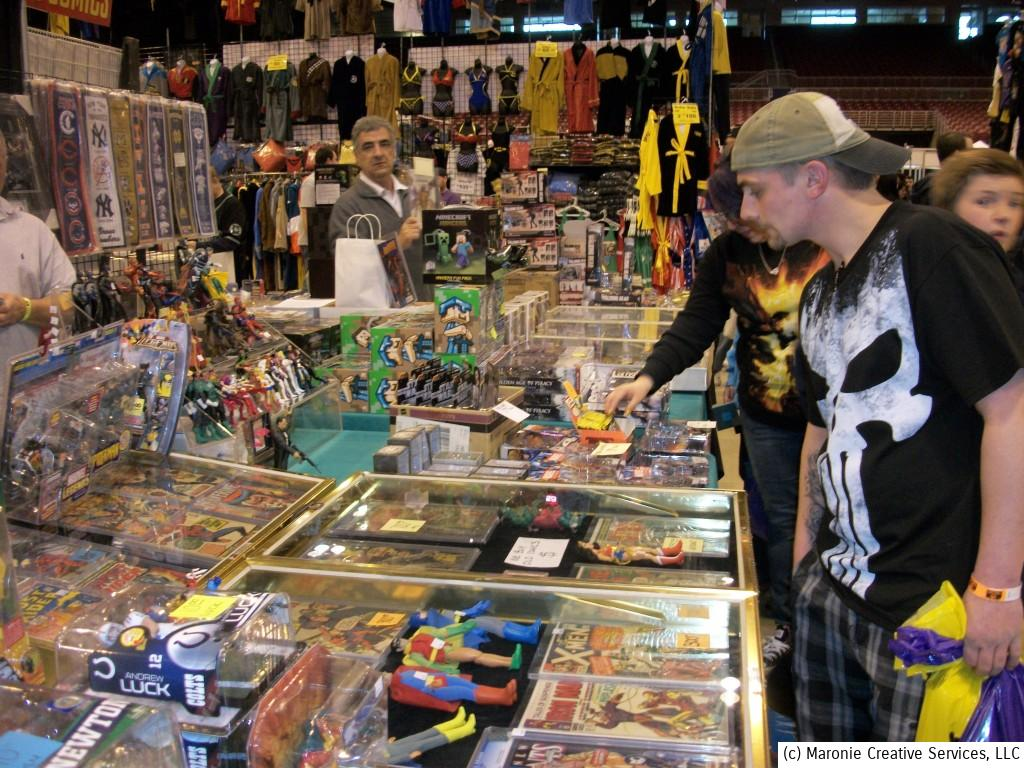 There was no end of t-shirts, action figures and other knick-knacks available for the most discriminating fan.
