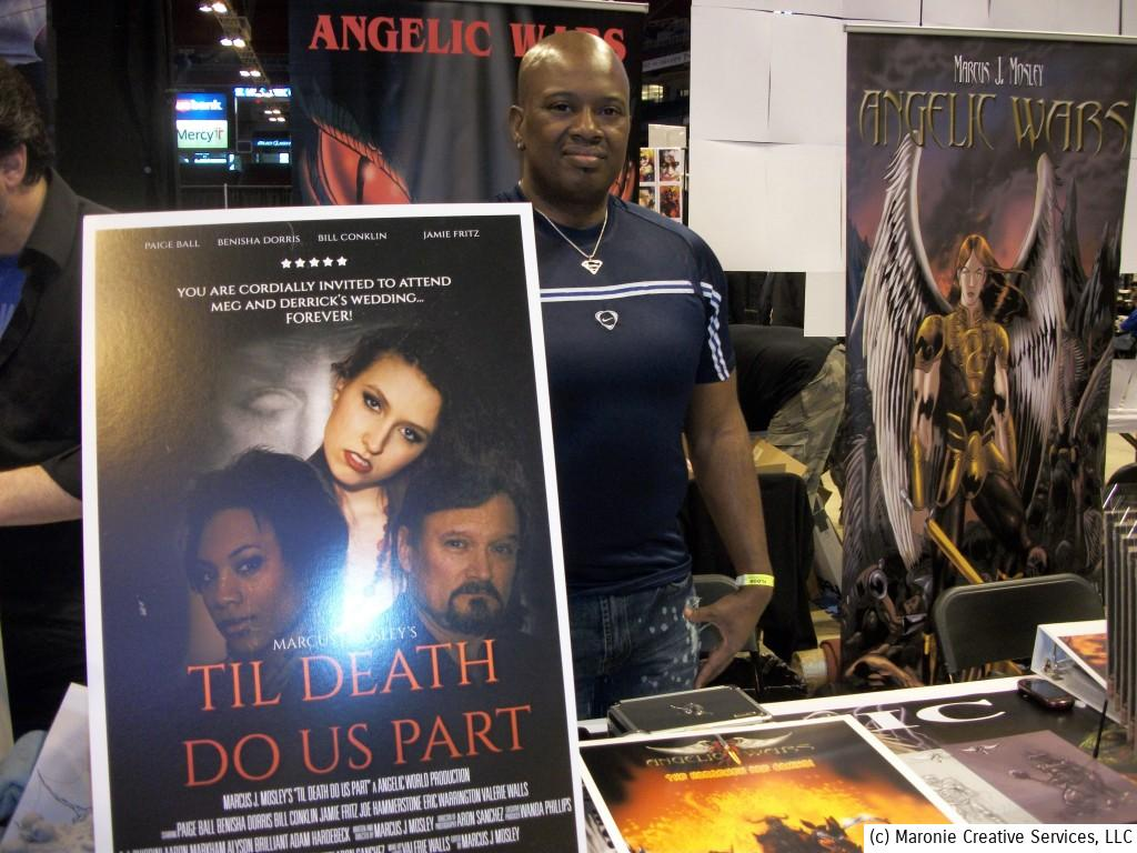 Marcus J. Mosley, local artist and filmaker, is currently shooting a home-grown horror film. He hopes to have Til Death Do Us Part in theatres soon. D