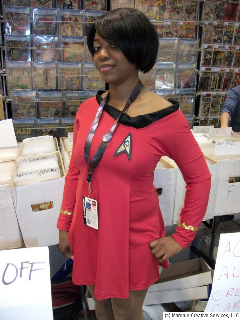 It looked like 1967 all over again with Deanna Cooper channeling Nichelle Nichols' 'Lt. Uhura' from the original 'Star Trek' series. Isn't there a strong resemblance?