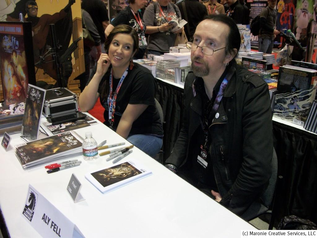 Brit Aly Fell was on hand to promote his upcoming 'Buffy the Vampire Slayer' book. Dark Horse has based much of their success licensing pop-culture properties for comics adaptations.