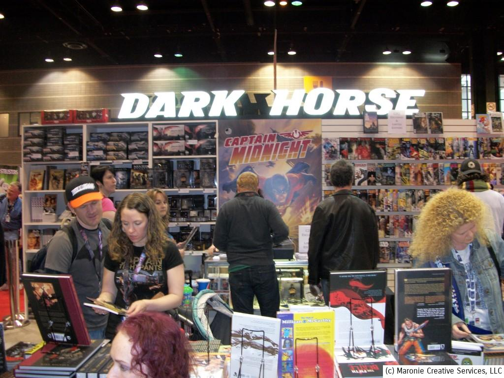 Many of the major publishers had elaborate displays at the convention. Here's Dark Horse Comics' jam-packed superstore.