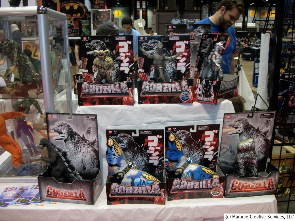 The upcoming 'Godzilla' movie meant that merchandise relating to the Big G. was everywhere. The whole pantheon of Japanese monsters could be found on dealer's tables throughout the show.