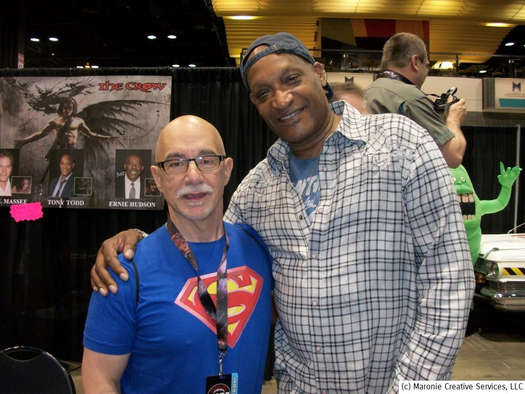 The Candyman himself, actor Tony Todd, appeared with two of his co-stars from the cult movie, 'The Crow'. The old cliche is true--horror film actors are usually the nicest people around. Mr. Todd was certainly no exception. He greeted each of his many fans warmly and took time to speak with them. Classy guy!