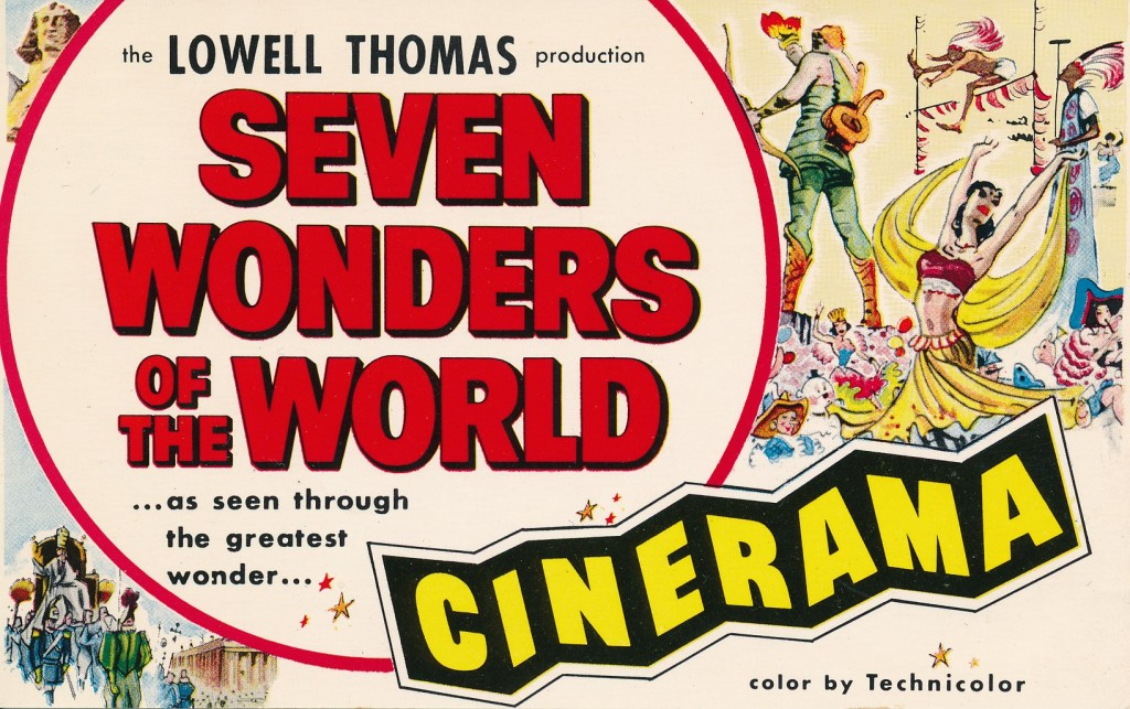 This is Cinerama production #3. Another travelogue, hosted by famed broadcaster Lowell Thomas. This 1956 film scours the world for modern day 'wonders of the world.'