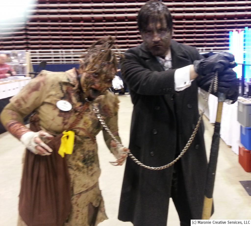 Zombies were big among cosplay participants. I saw a little boy hide behind his parents when he encountered these two zombos. I felt like doing the same thing!