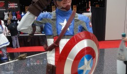 The winter soldier himself, Captain America, was there to greet fans as they entered the meeting hall.