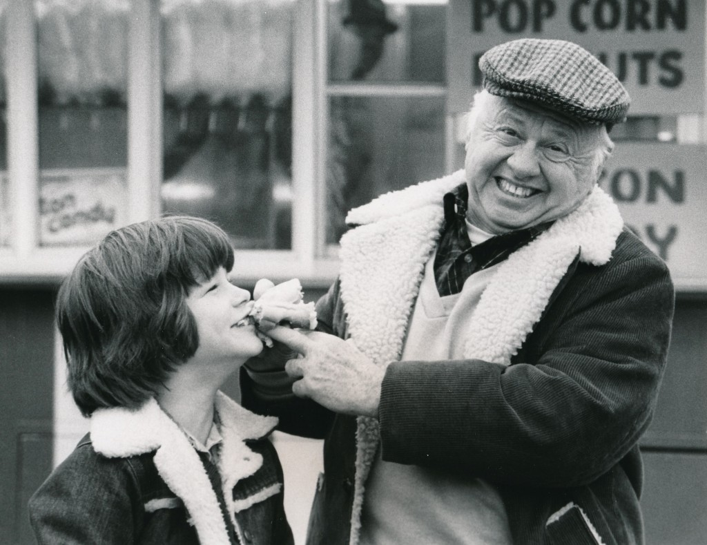 Mickey and young Danny Lance, from the 1981 TV-film, 'Leave 'Em Laughing'. (c) CBS