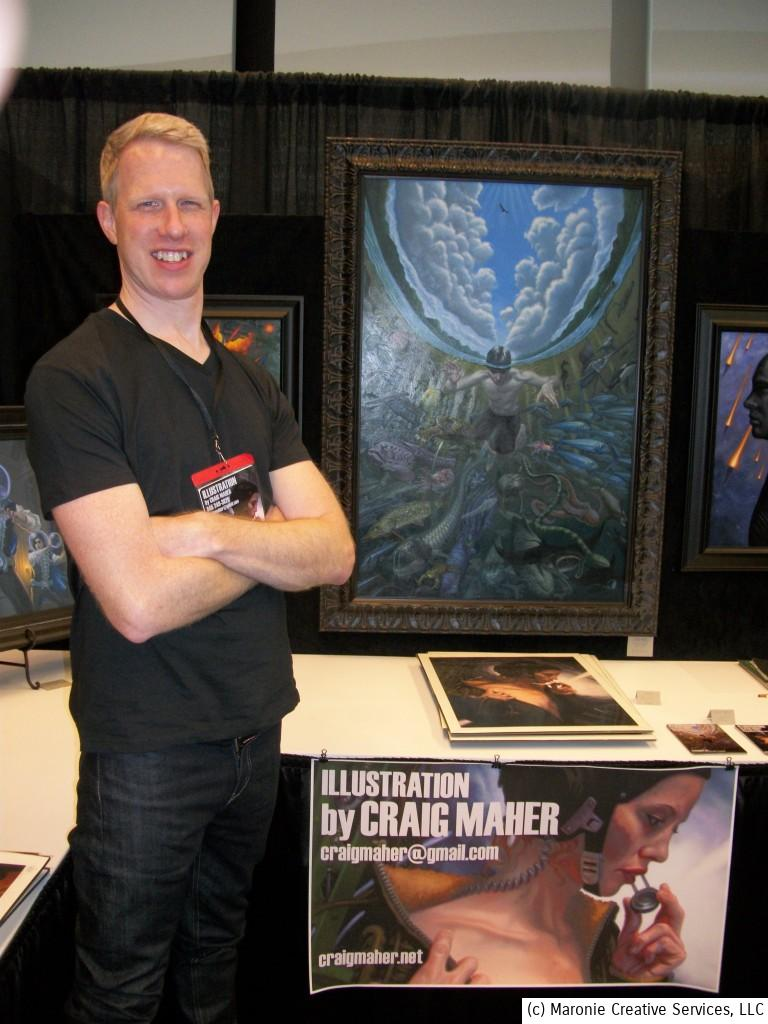 Craig Maher made a big impression on Spectrum attendeed with his spectactular artwork. His work is breath-taking!
