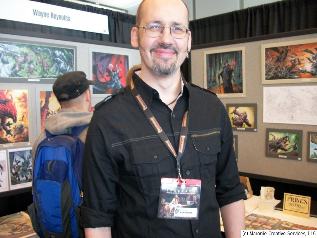 British fantasy artist Wayne Reynolds has been active in English comics and fantasy role-playing illustration.