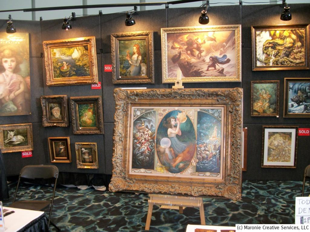 Way-out art of all variety was on display. Every genre was represented from outer-space scenes to Victorian fantasy.
