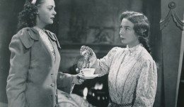Here's birthday girl June Lockhart in 'The She-Wolf of London'. This came at the tail-end of the Universal wartime horror cycle. It's not a bad movie at all. Not to take away from June, but note famed character actress Sara Haden giving our girl the stink-eye in this photo. Ms. Haden was playing against type here, as she usually portrayed spinsters, school marms, and dear 'Aunt Millie' in the Andy Hardy films at MGM. (c) Universal