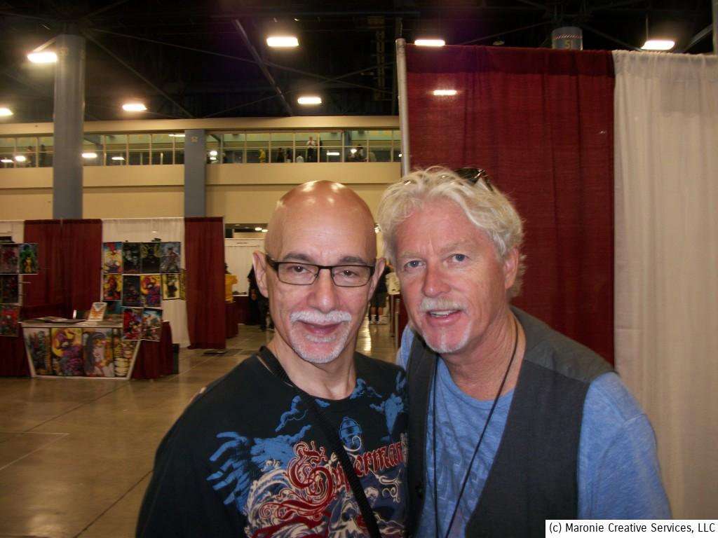 'The Greatest American Hero,' William Katt, poses with Blogmeister Sam during Supercon 2014. Katt is the son of actor Bill Williams and Barbara Hale--'Della Street' from the classic Perry Mason series.