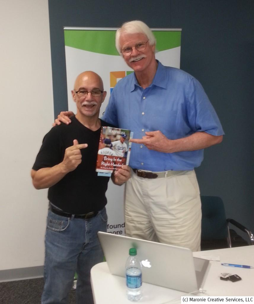 Blogmeister Sam and Jerry Reuss point to his new book!