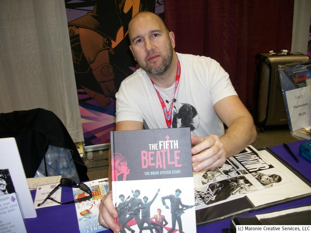 'The Fifth Beatle' co-artist Andrew C. Robinson, taken at Planet Comicon 2014 in Kanas City, Missouri.