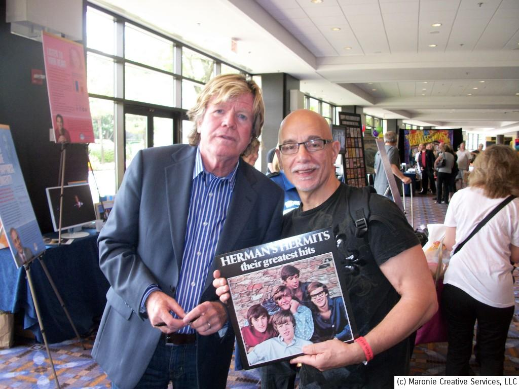 Here's Peter Blair Denis Bernard Noone, aka 'Herman' from the iconic 1960s pop group, 'Herman's Hermits.' Fans lined up for hours to meet the star during Chicago Beatlefest 2014.  The 67 year-old musician was unfailingly polite to each fan and spent a few moments with each one. What a classy guy!