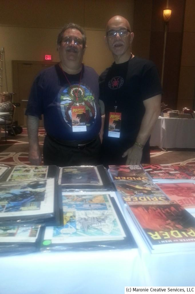 Blogmeister Sam was reunited with writer Tony isabella. Tony purchased my first professional article 'way back in 1973 when he was a staff editor at Marvel Comics. i was only 17 years old, but he gave a struggling writer his greatest encouragement---his first sale!